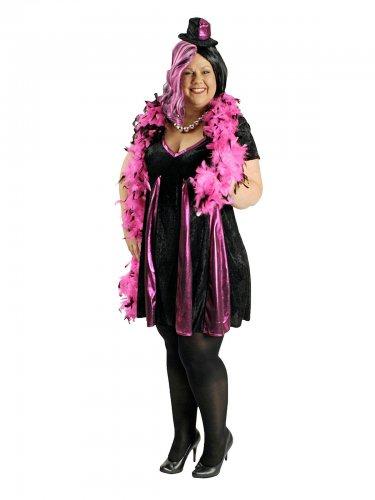Kabarett Kostüm Damen schwarz und rosa