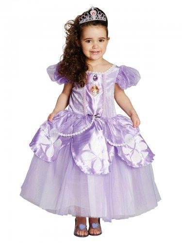 Prinzessin Sofia™-Kinderkostüm Disney™-Lizenz Deluxe weiss-lila