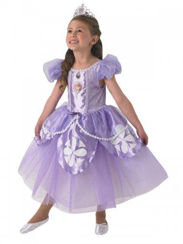 Prinzessin Sofia™-Kinderkostüm Disney™-Lizenz Deluxe weiss-lila-1
