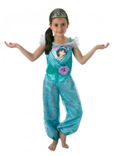 Jasmin Aladdin™-Prinzessinnen-Lizenzkostüm für Mädchen türkis