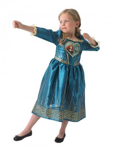 Merida™-Disney Kostüm für Mädchen Lizenz blau-gold
