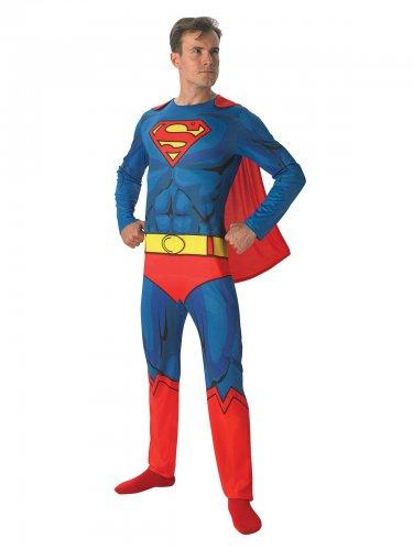DC Superman-Lizenzkostüm für Herren Superheld blau-gelb-rot