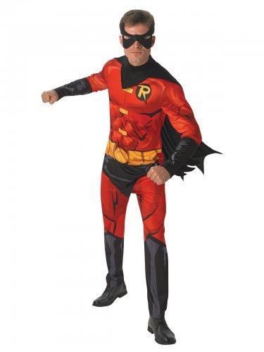 dc robin superhelden kost m f r herren rot gelb schwarz. Black Bedroom Furniture Sets. Home Design Ideas