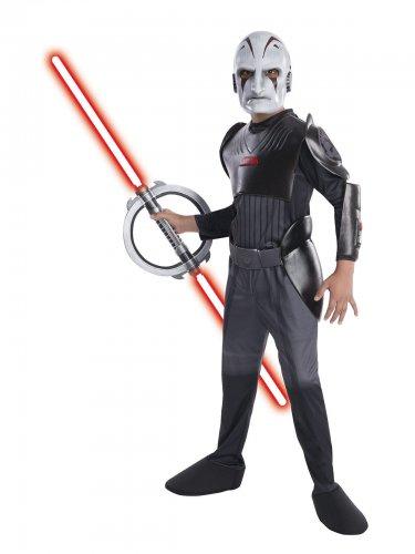 Star Wars™-Inquisitor-Kinderkostüm schwarz-grau-weiss