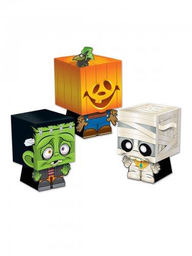 Überraschungs-Boxen für Halloween 3er Set bunt