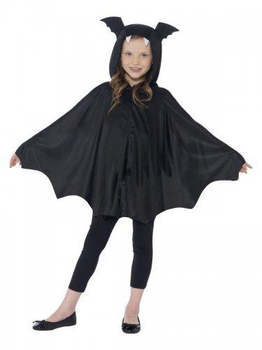 Schwarzer Fledermaus-Poncho für Kinder-1