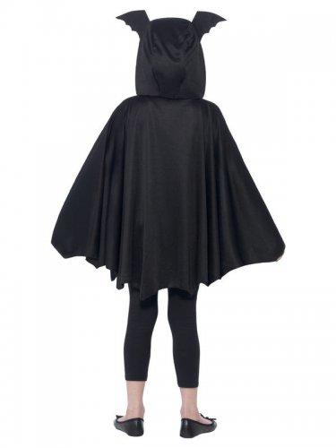 Schwarzer Fledermaus-Poncho für Kinder-2