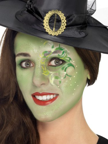 Set Make Up Bezaubernde Hexe Damen Halloween Schminke Und