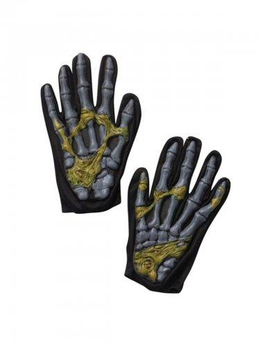 Zombie-Handschuhe Halloween-Zubehör schwarz-grau