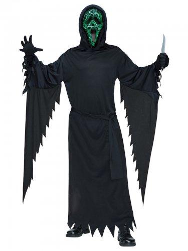 Ghost Face Scream™-Kostüm für Herren animiert schwarz-grün