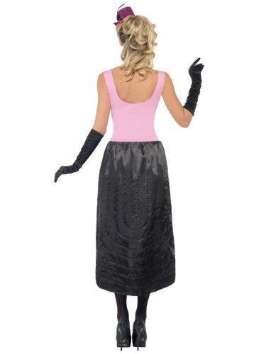 Burlesque-Damenkostüm Showgirl pink-schwarz-1
