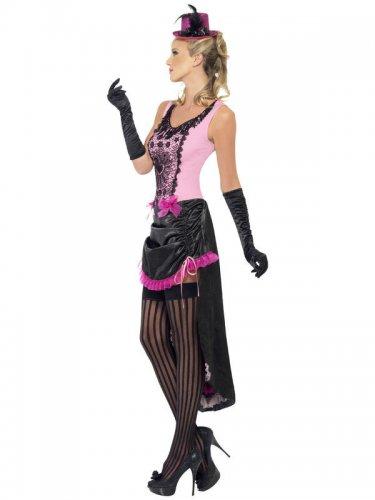 Burlesque-Damenkostüm Showgirl pink-schwarz-2