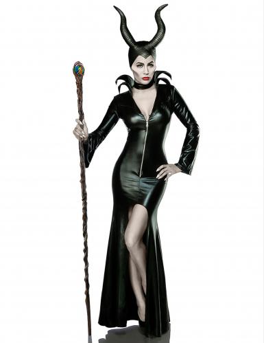 Dunkle Märchenfee Damenkostüm Hexe schwarz