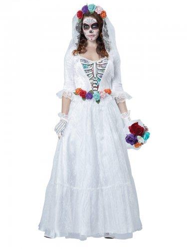 Verkleidung Skelettbraut Damen