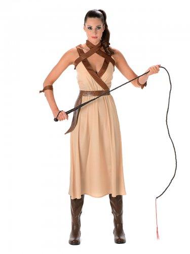 Wüsten-Kriegerin Kostüm für Damen beige-braun