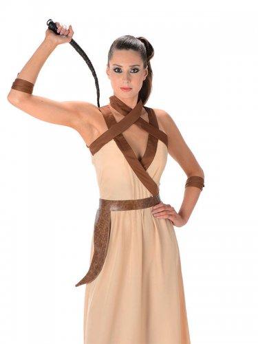 Wüsten-Kriegerin Kostüm für Damen beige-braun-1
