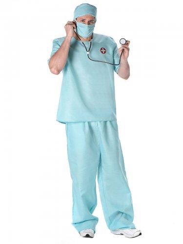 Arzt Kostüm Chirurg blau für Herren