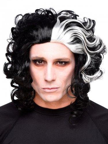 Halloween-Perücke Horror-Friseur schwarz-weiß