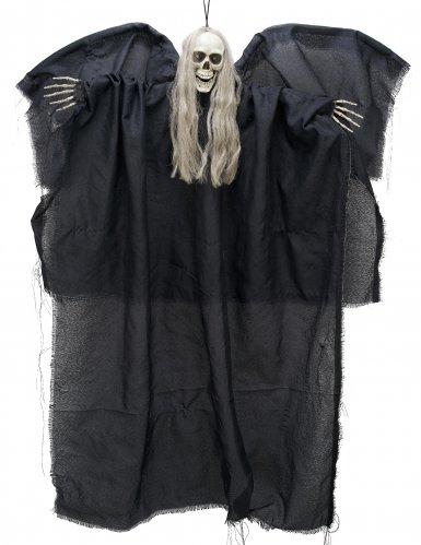 Halloween-Hänge-Dekoration - Todesengel - Schwarz 110 cm leuchtet im Dunklen