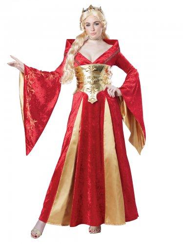 Mittelalterliche Königin-Damenkostüm