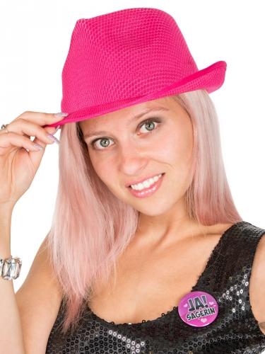 Knalliger Partyhut für Damen in pink