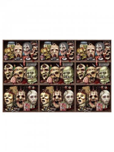 Halloween Wandfolie Totenschädel