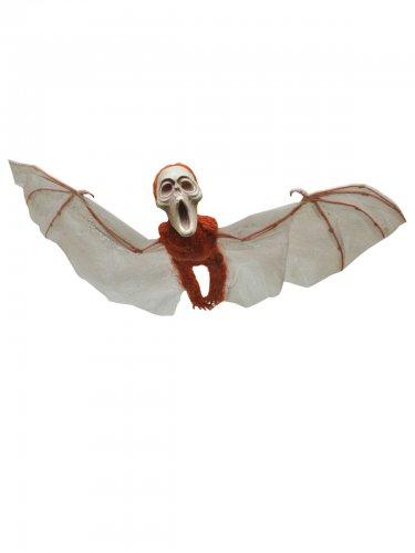 Skelett-Fledermaus Halloweendeko braun-grau