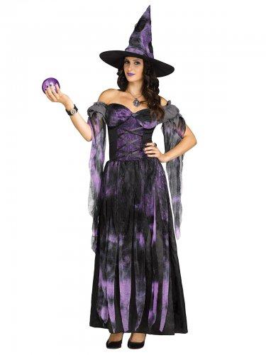 Halloween-Damen-Kostüm - Hexe - Lila