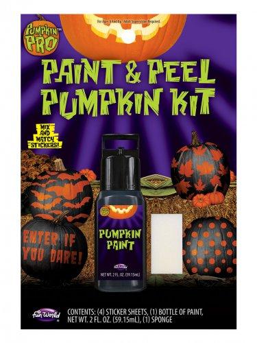 Dekoration Aufkleber mit Halloween-Kürbis orange-schwarz
