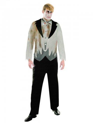 best sneakers f41fd baf60 Zombie-Bräutigam Halloween Kostüm für Herren Anzug grau-schwarz
