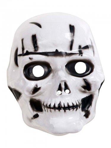 Halloween-Maske für Kinder schwarz-weiß