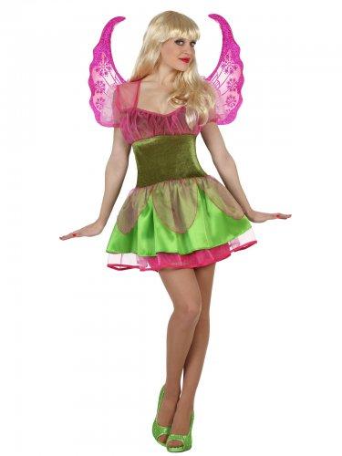Bezaubernde-Fee Damenkostüm grün-lila