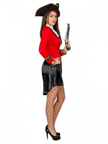 Sexy Piratinen Damenkostüm rot-schwarz-1