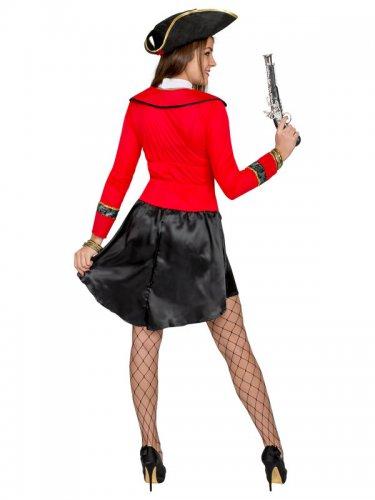 Sexy Piratinen Damenkostüm rot-schwarz-2