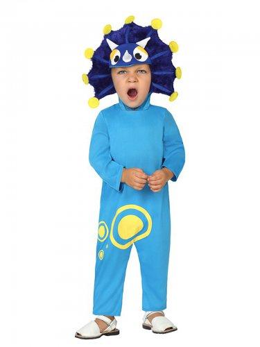 Dinosaurier-Kostüm Tier-Verkleidung für Kinder blau-lila