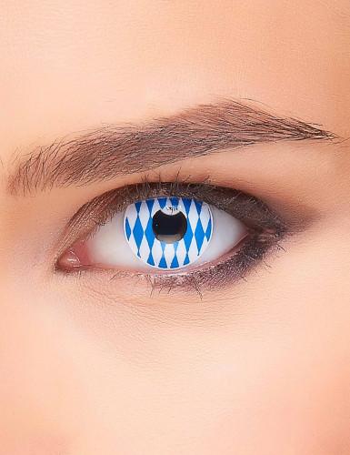 Oktoberfest Kontaktlinsen blau-weiss
