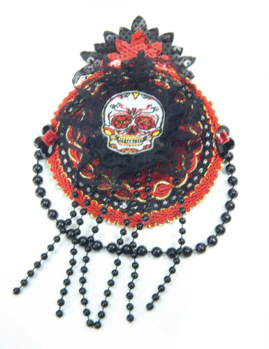 Mini Dia de los Muertos Hut für Damen