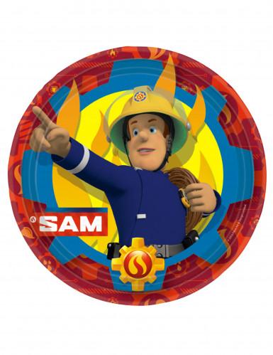 8 Pappteller Feuerwehrmann Sam™ 23 cm