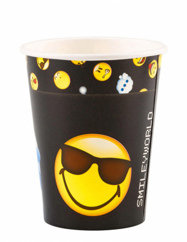 8 Trinkbecher Emoticons™ 250ml