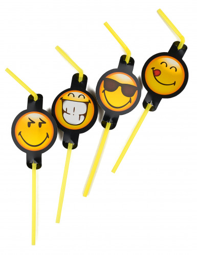 8 Strohhalme Emoticons™