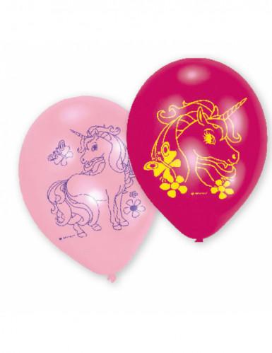 6 Einhorn Ballons Latex