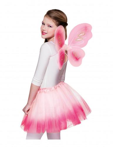 Rosa Flügel und Tütü für Schmetterling