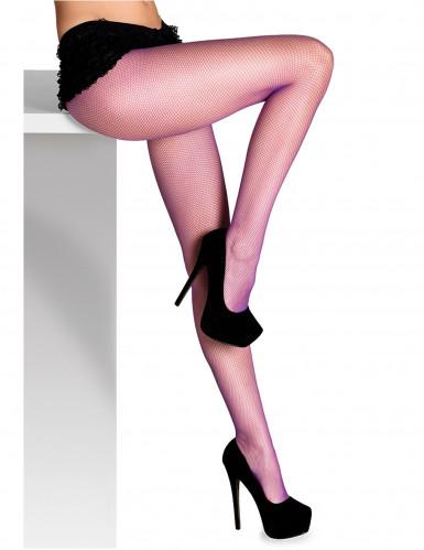 Violette Netzstrumpfhose für Damen