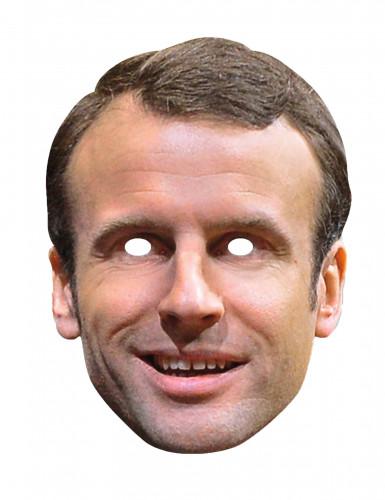 Karton Maske Emmanuel Macron