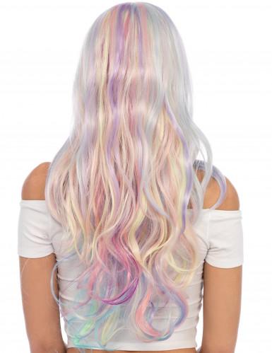Einhornparücke mit Wellen und Pastellfarben für Damen-1