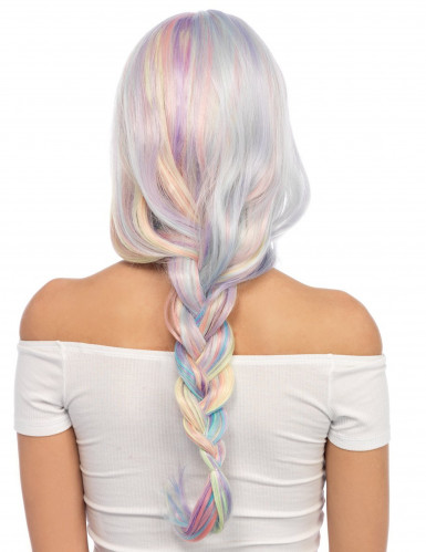 Einhornparücke mit Wellen und Pastellfarben für Damen-2