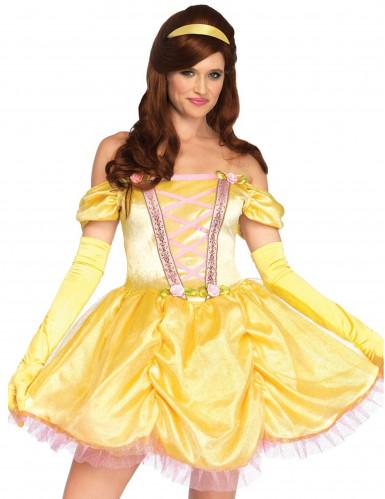 Verwunschene Prinzessin Damenkostüm gelb