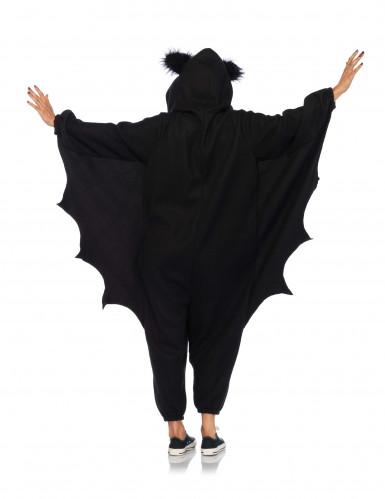 Fledermaus Jumpsuit mit Flügeln Halloween schwarz-1