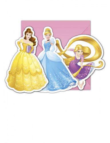 6 Einladungskarten + Umschläge Disney Prinzessin™