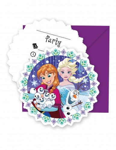6 Einladungsparty mit Umschlag die Eiskönigin™